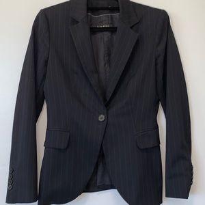 ZARA pinstripes one button blazer
